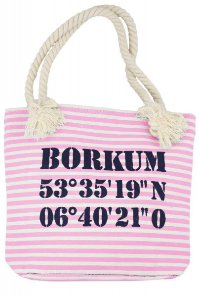 "XS Shopper ""Borkum"" Shopper Tasche Koordinaten"