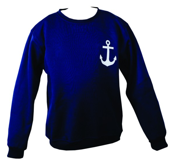 "Sweatshirt ""Anchor"" Maritime Print Gents Solid Color Sweater"