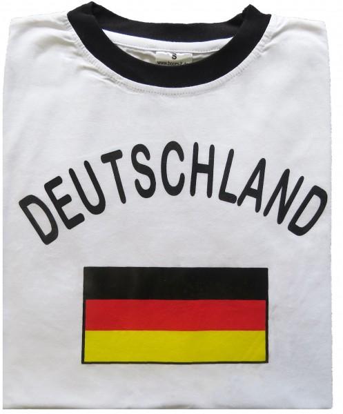 """Fan-Shirt """"Deutschland"""" Unisex Fußball WM EM Herren T-Shirt"""