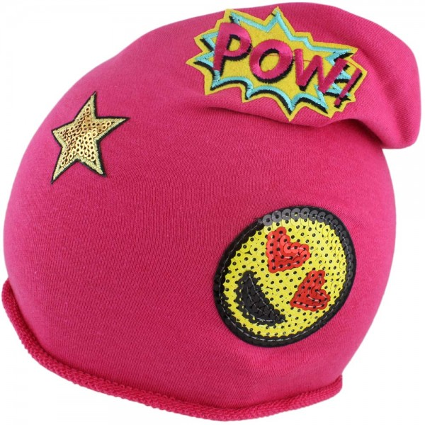 "Beanie Kind ""Smiley"" Mütze POW Stern Patches Aufnäher"