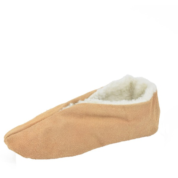 "Genuine Leather Indoor Slipper ""Basic"" Teddy Fur Lining"