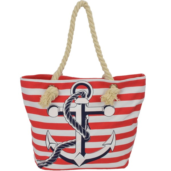 "Beach Bag ""Annika"" Shopping Anchor Stripes"