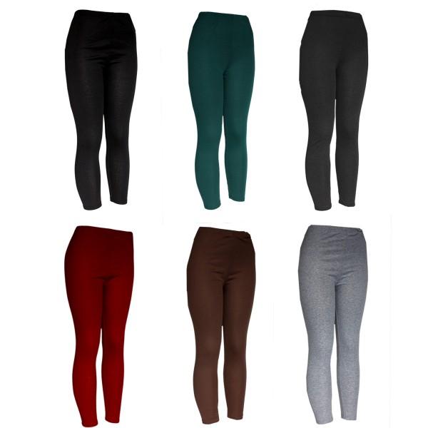Aktionssortiment: 30 Stück Leggins Unifarben Polyester Onsize Damen