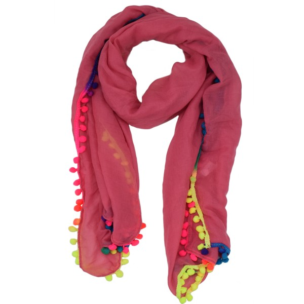 "Scarf Long ""Pompons"" Neon Colored Summer"