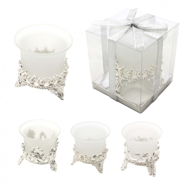 "Assortment: 20 Pieces Tea Candle ""Silber Winzling"" Decoration Present"