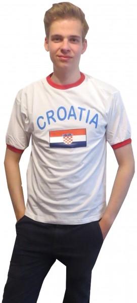 """Fan-Shirt """"Croatia"""" Unisex Fußball WM EM Herren T-Shirt"""