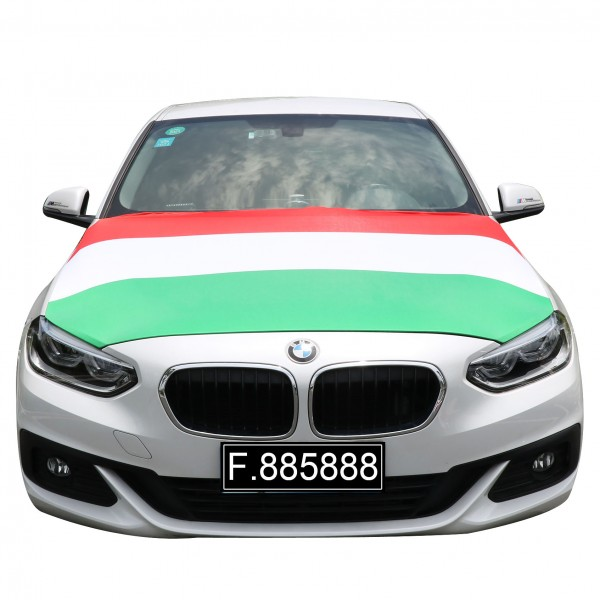 """EM Fußball """"Ungarn"""" Motorhauben Überzieher Auto Flagge"""