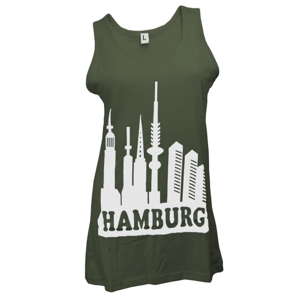 "Woman T-Shirt ""Skyline Hamburg"" Cotton"