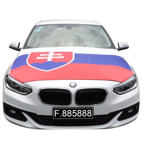 """EM Fußball """"Slowakei"""" Motorhauben Überzieher Auto Flagge"""