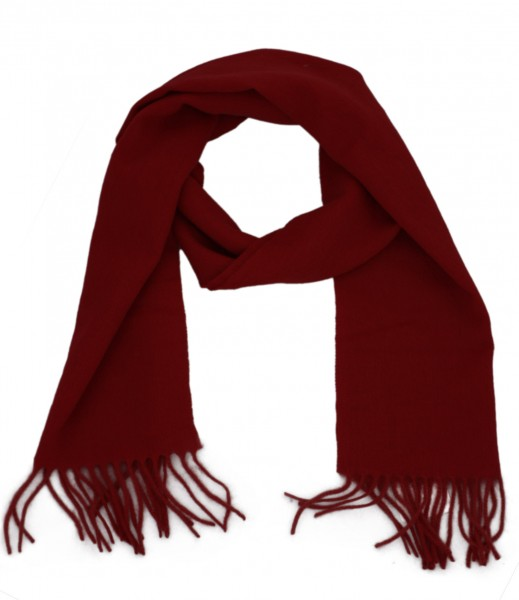 Scarf Wool Winter Fringes Basic Unicolor