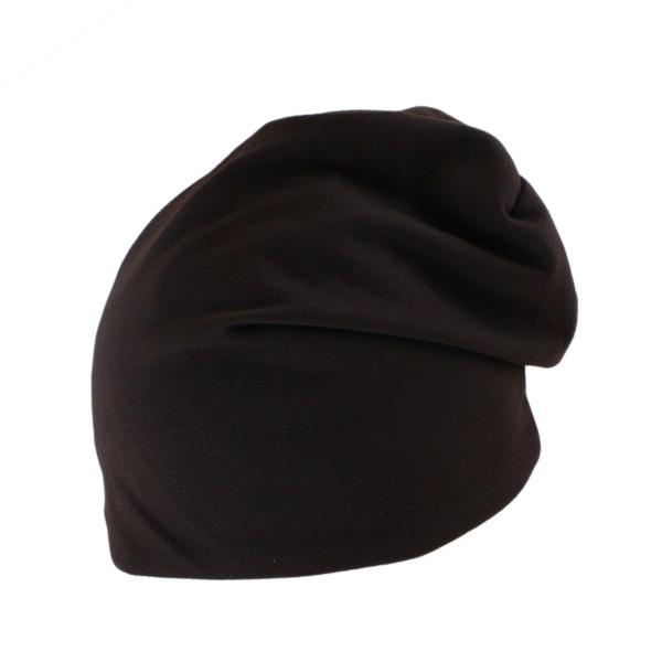 """Winter Beanie """"Uni"""" Einfarbig Fleece Baumwolle"""
