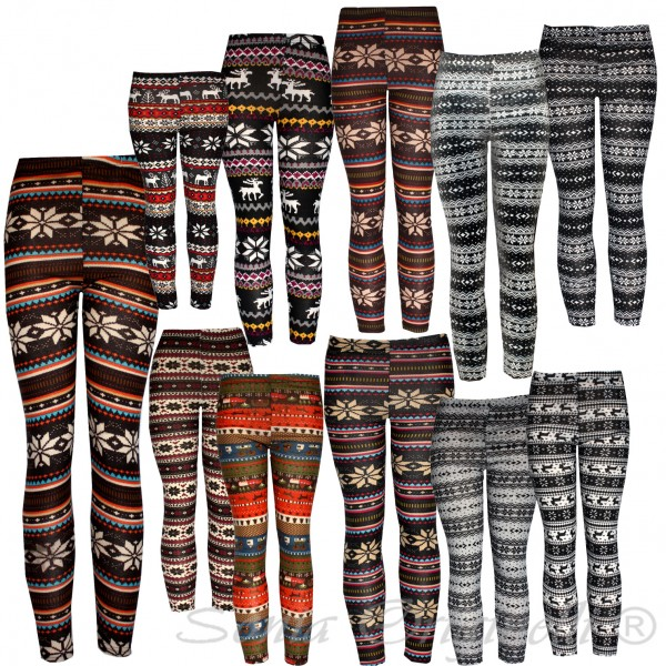 Assortment: 30 pieces Leggins Pattern Winter Women Pants