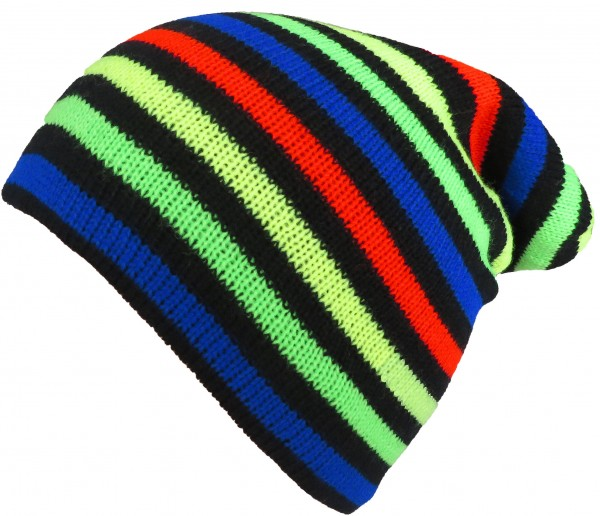 "Long Beanie ""Colored Stripes"" Cap Striped Winter Unisex"