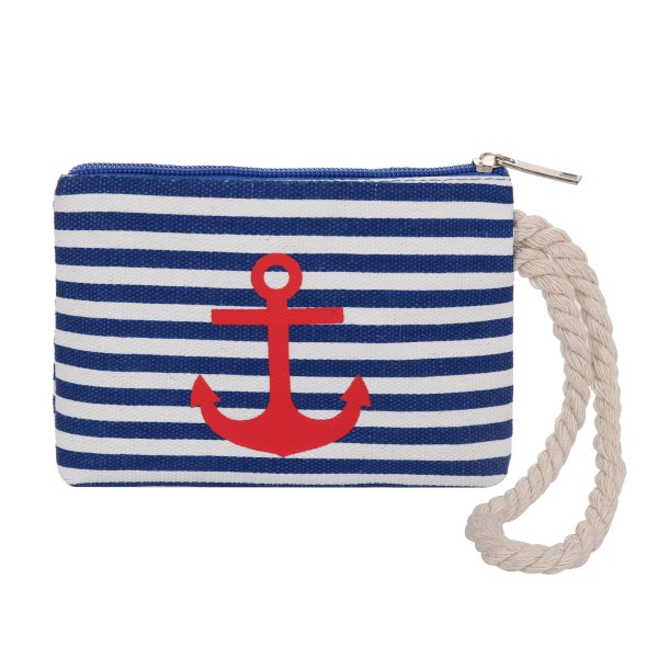 "Purse ""Anchor"" Mini Bag Maritime Stripe Cord"