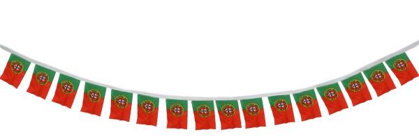 """Fahnenkette """"Portugal"""" Fußball EM Girlande 16 Fähnchen 4,5m Deko"""