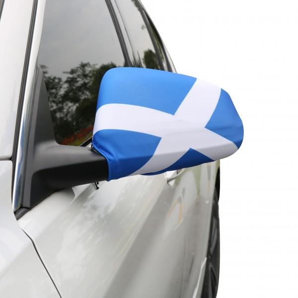 "Auto Außenspiegel Fahne Set ""Schottland"" Scotland Bikini Flagge EM WM"