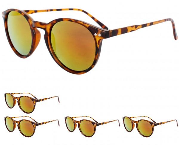 Aktionssortiment: 12 Sonnenbrillen Print Verspiegelt Leo Sommer Brille
