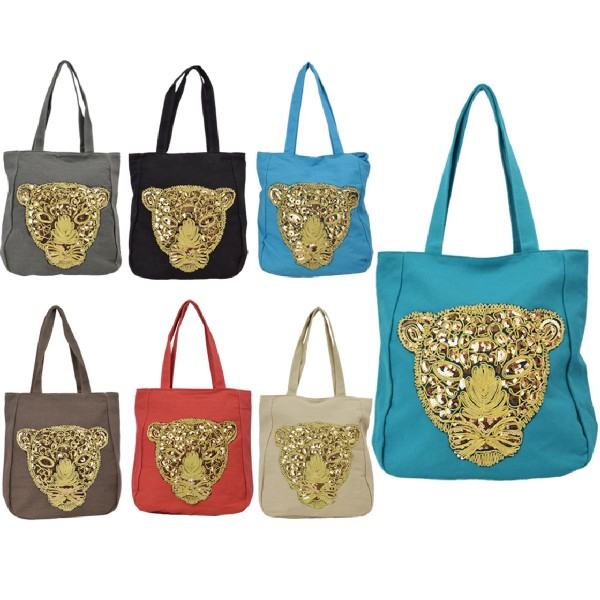 """Sale: 12 Ladies Bags """"Dschungel"""" Shopping Bag Tiger"""