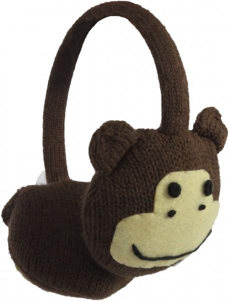 Ohrenwärmer Kinder Ohrenschützer Tiermotiv Eule Frosch Affe Katze