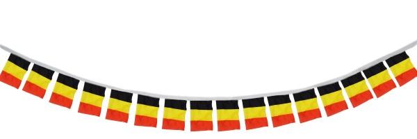 """Fahnenkette """"Belgien"""" Fußball EM Girlande 16 Fähnchen 4,5m Deko"""
