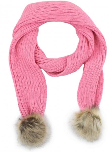 Scarf Faux Fur Bobble Polyacrylic Winter Melange