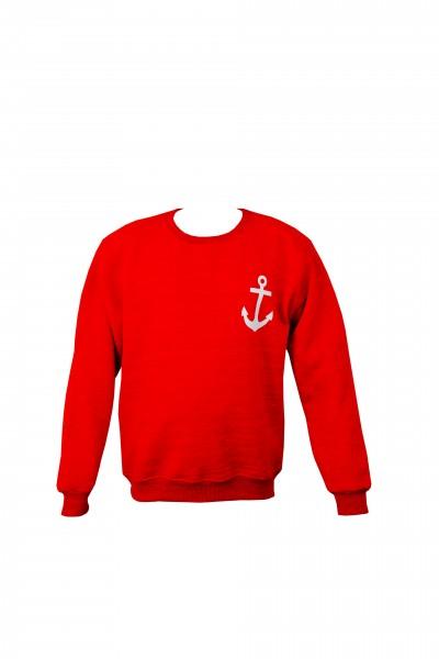 """Sweatshirt """"Meerweh"""" Anchor Maritime Print Ladies Solid Color Sweater"""