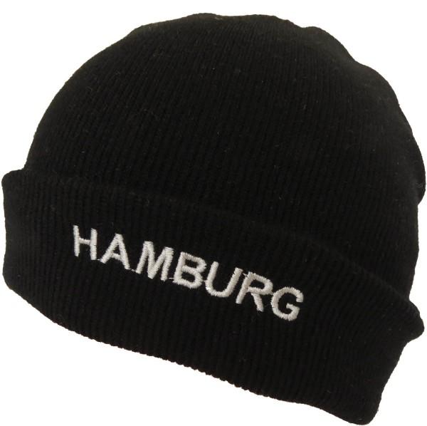 "Strickmütze ""Hamburg Light"" Schwarz Fleece Unisex"