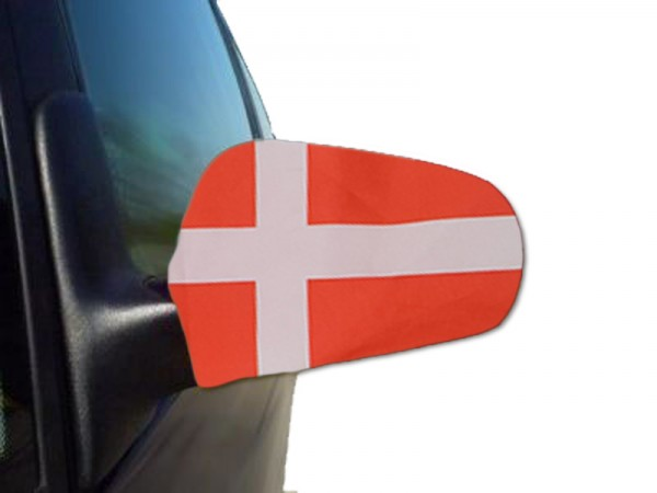 "Auto Außenspiegel Fahne Set ""Dänemark"" Denmark Dansk Bikini Flagge EM WM"