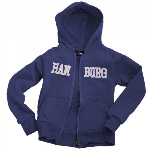 "Sweatjacke ""Hamburg"" Kinder Unifarben Jacke"