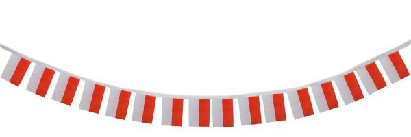 """Fahnenkette """"Polen"""" Fußball EM Girlande 16 Fähnchen 4,5m Deko"""