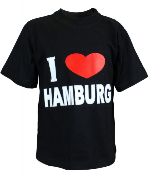 "T-Shirt ""I love Hamburg"" Classic Cotton"