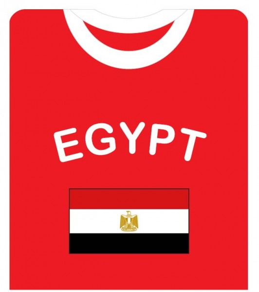 """Fan-Shirt """"Egypt"""" Unisex Football Worldcup T-Shirt Men"""