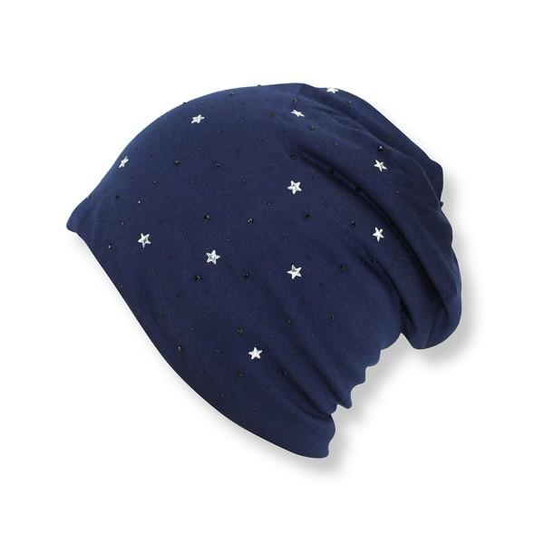 """Winter Beanie Hat """"Mini Star Rhinesones"""" Teddy Fur Lining"""