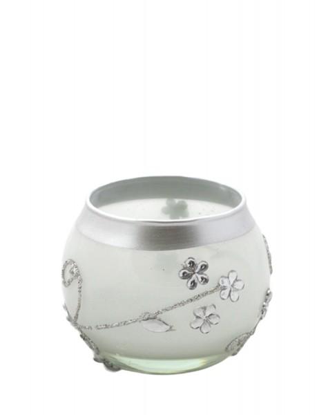 "2 Pieces Tea Candle ""Flowers Round"" Decoration Present"