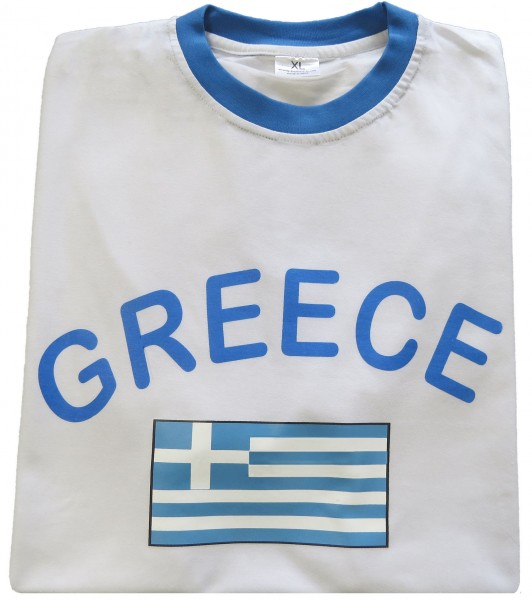 "Fan-Shirt ""Greece"" Unisex Fußball WM EM Herren T-Shirt"