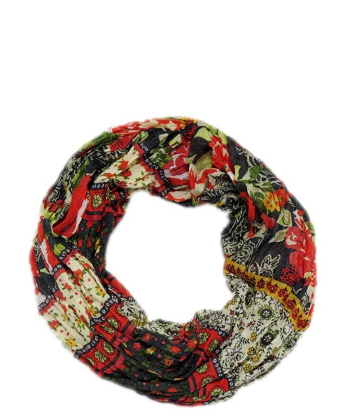 "Scarf Loop ""Patchwork"" Round Shawl Summer"