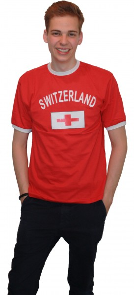 "Fan-Shirt ""Switzerland"" Unisex Fußball WM EM Herren T-Shirt"