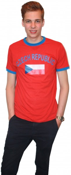 "Fan-Shirt ""Czech Republic"" Unisex Fußball WM EM Herren T-Shirt"
