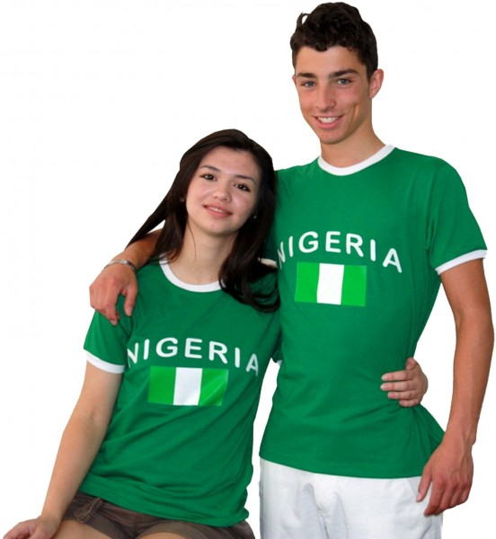 "Fan-Shirt ""Nigeria"" Unisex Football Worldcup T-Shirt Men"