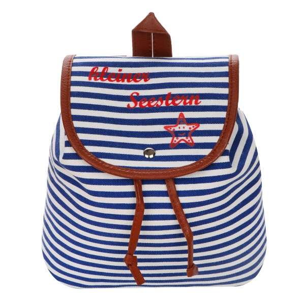 "XS Backpack ""Little Seastar"" Stripes Maritim Daypack"