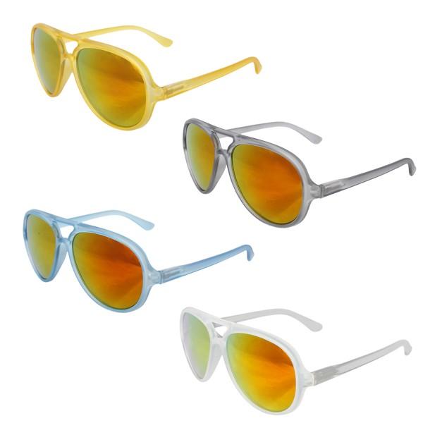Aktionssortiment: 12 Sonnenbrillen Modern Verspiegelt Brille Party