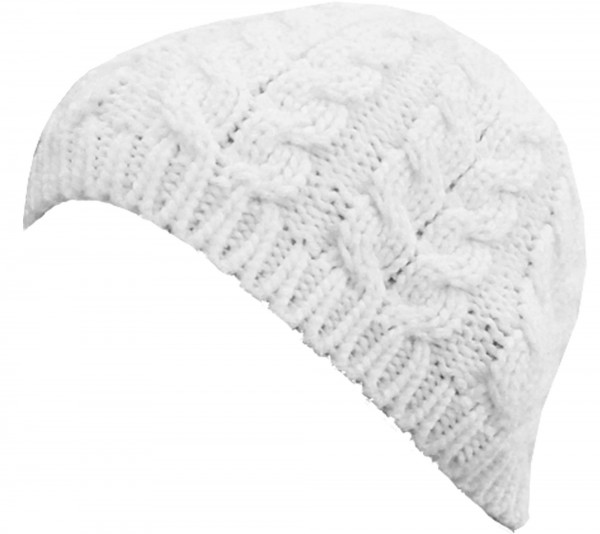 Knitted hat Winter Women White Autum