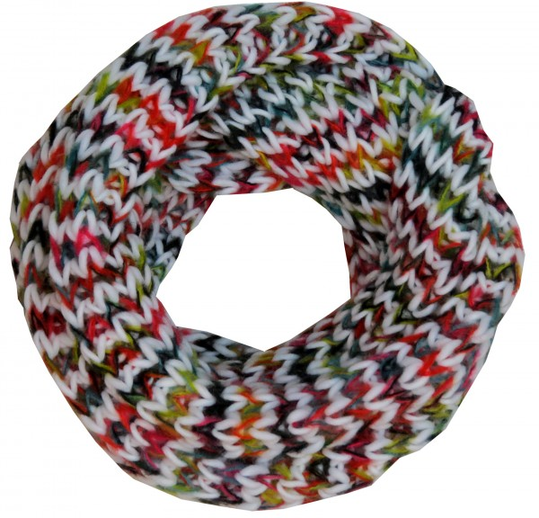 Assortment: 10 pcs Loop Scarf Polyacrylic Rainbow Colored Winter