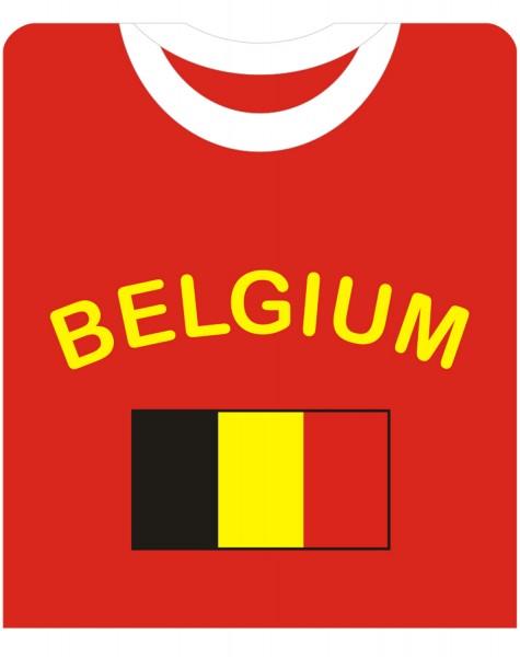 """Fan-Shirt """"Belgium"""" Unisex Football Worldcup T-Shirt Men"""