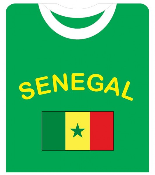 "Fan-Shirt ""Senegal"" Unisex Fußball WM EM Herren T-Shirt"