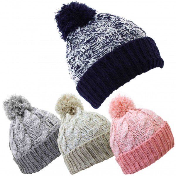 Assortment: 20 pieces Bobble Cap Melanche Winter Knitted Hat Uni