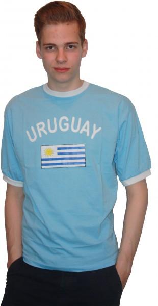 """Fan-Shirt """"Uruguay"""" Unisex Fußball WM EM Herren T-Shirt"""