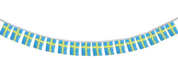 """Fahnenkette """"Schweden"""" Fußball EM Girlande 16 Fähnchen 4,5m Deko"""