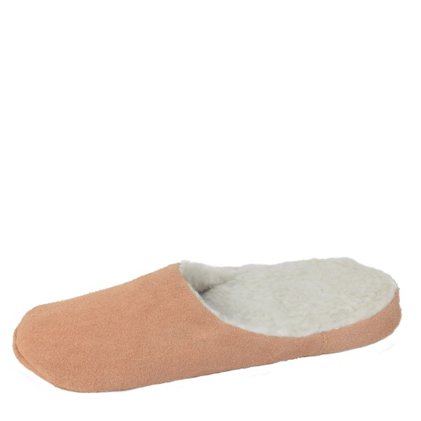 "Slipper ""Timeless"" Real Leather Faux Fur Lining Sole"