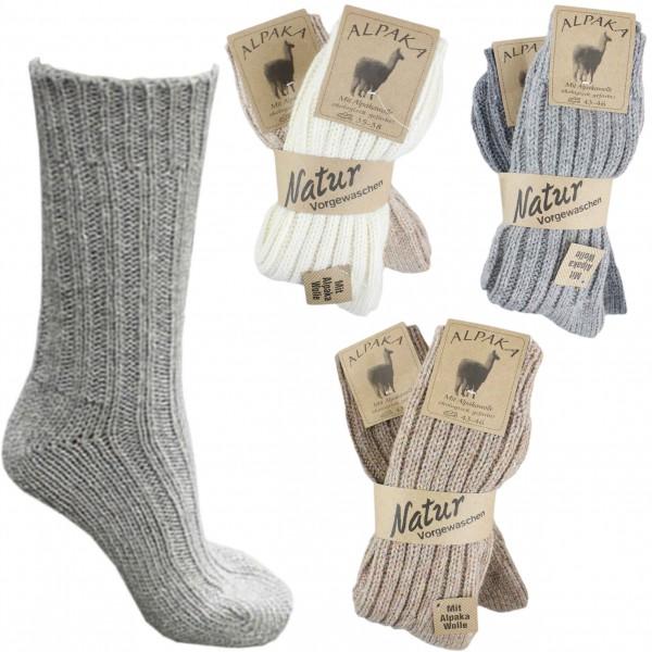 "Assortment 60 Pairs Alpaca Socks ""Thick"" Winter Sheep Wool"